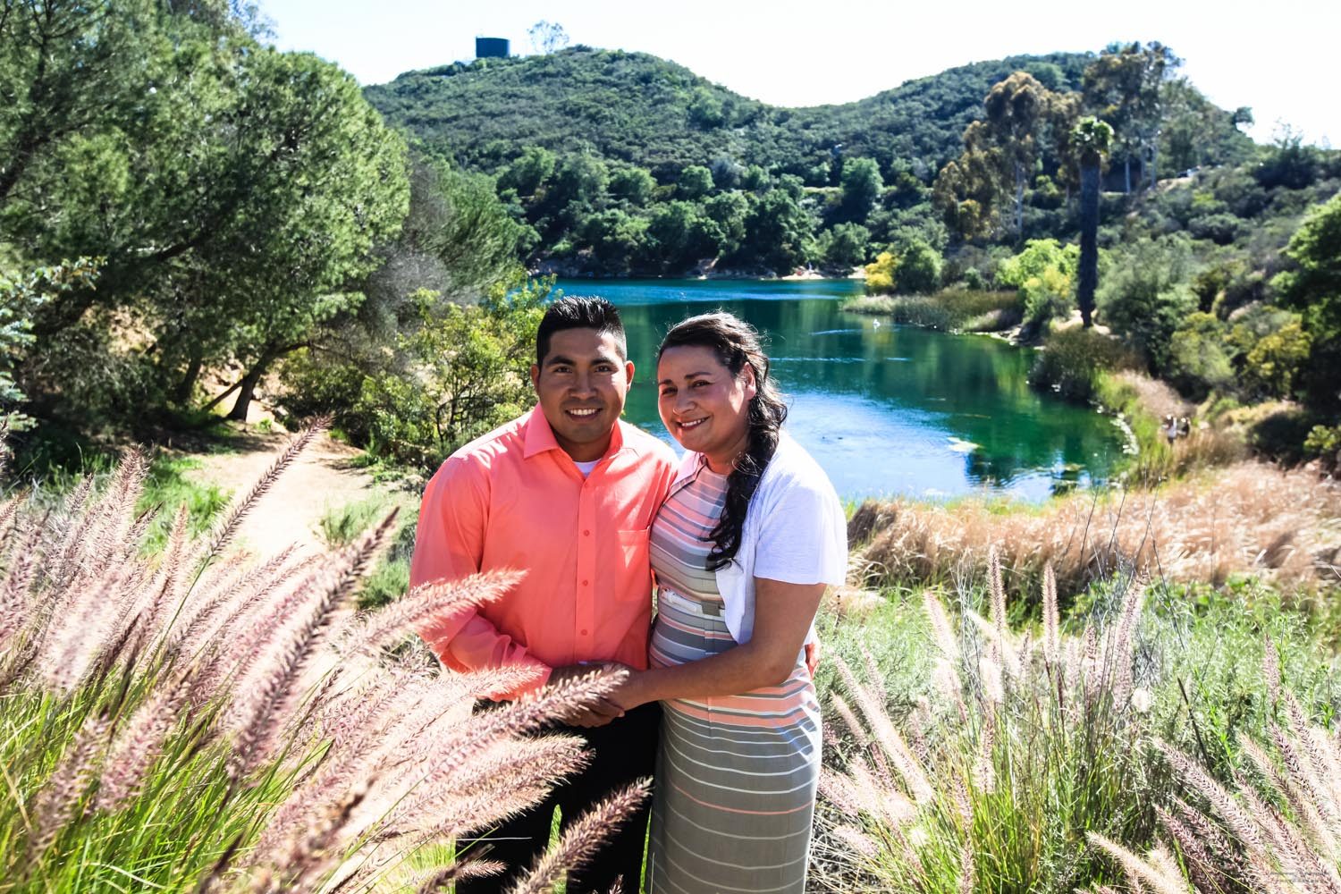 A Couple's Lakeside Escondido Engagement Photography near San Diego, California