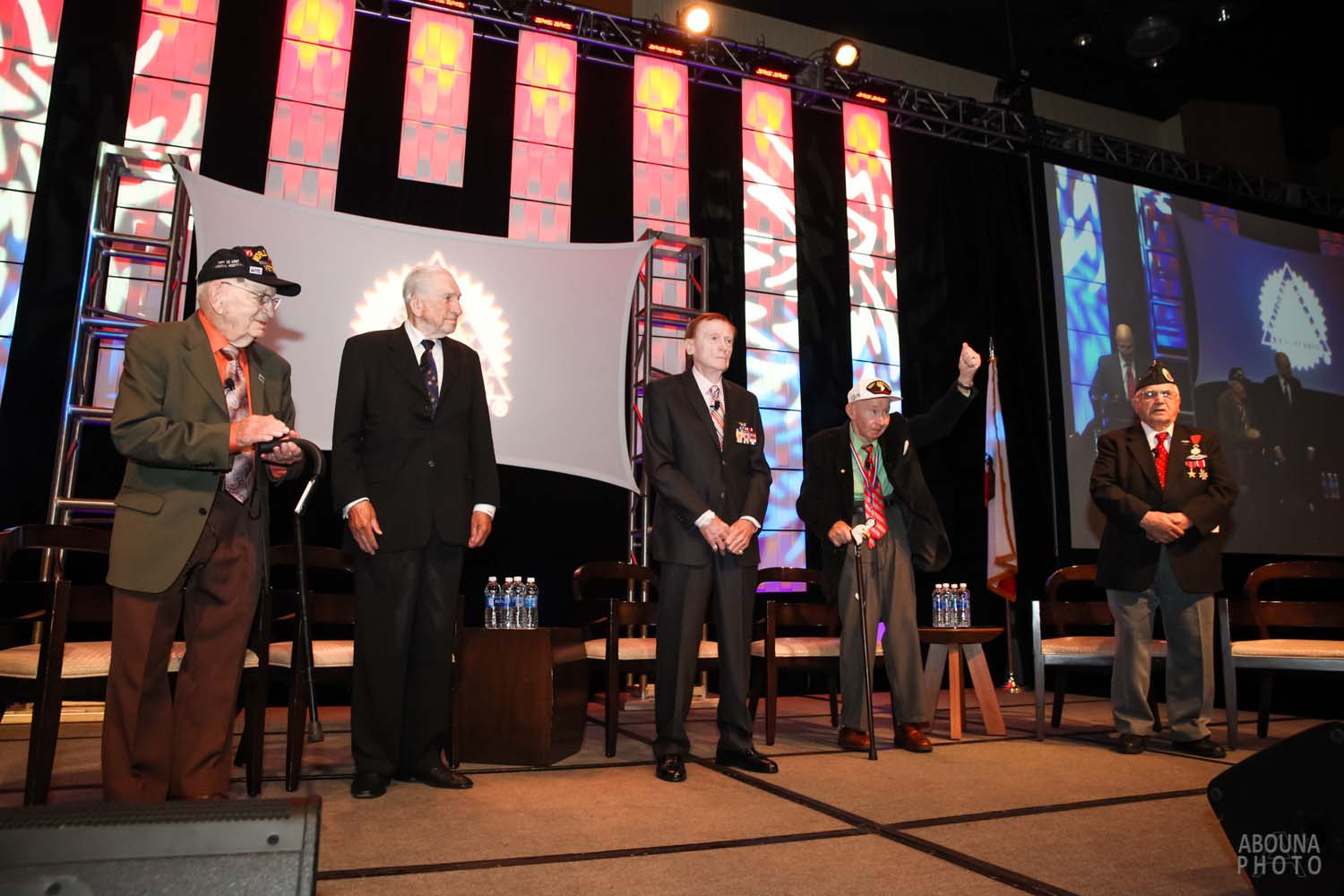 Photography Article of World War II Veterans Presenting to NNA National Conference in Anaheim CA