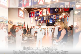 A Navy Captain's Retirement Ceremony Photography at The Veterans Memorial Balboa Park