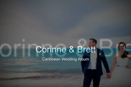 Caribbean Wedding Album Design and Print for Corinne and Brett by San Diego Destination Wedding Photographer AbounaPhoto