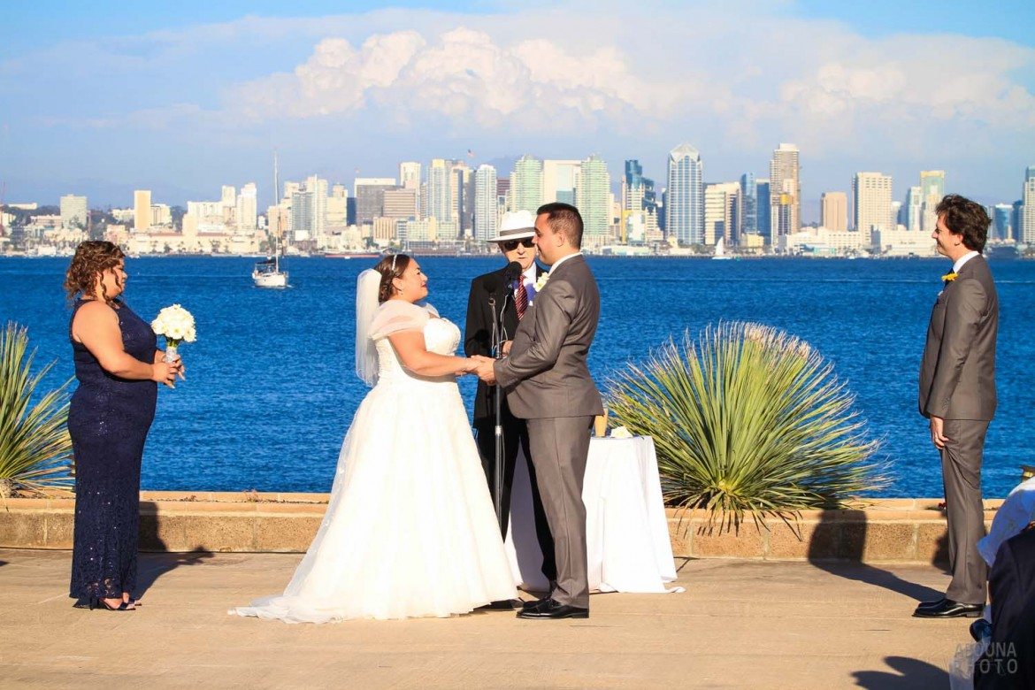 Des and Mike San Diego Bayside Wedding Photos by Wedding Photographers in San Diego AbounaPhoto