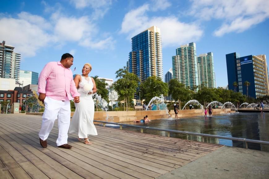 Tamika and Brad - Courthouse Waterfront Wedding San Diego - AbounaPhoto