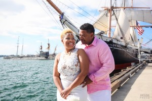 Tamika and Brad - Courthouse Waterfront Wedding San Diego - AbounaPhoto