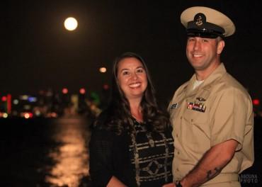 US Navy Khaki Ball Night Photography San Diego Bay at Admiral Kidd by AbounaPhoto