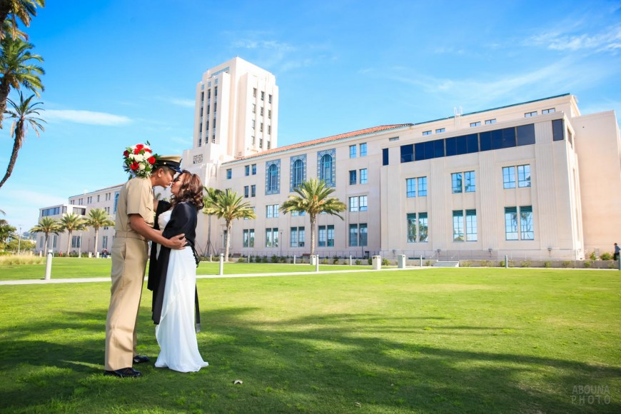 Mary and Lester Courthouse Wedding in San Diego by Photographer AbounaPhoto