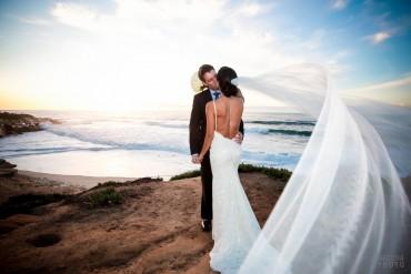 Kimberly and David - La Jolla Wedding Shoot Christmas Day by San Diego Wedding Photographer Andrew Abouna