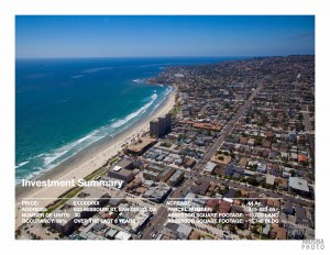Aerial Photography San Diego - Real Estate Graphic Design - Offering Memorandum - The Oasis - Pacific Beach - San Diego Photographer AbounaPhoto