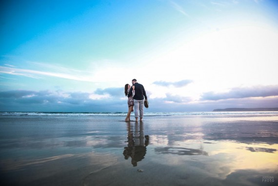Engagement Photos on the Beach in San Diego - AbounaPhoto