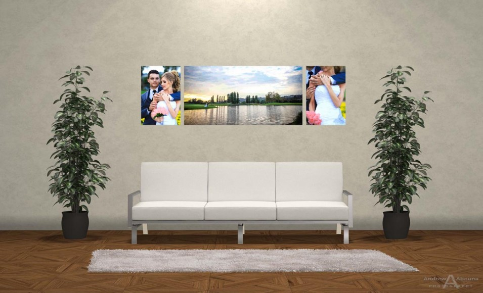 Wedding Photo Print Ideas Wall Display Mockup by San Diego Photographer Andrew Abouna 2