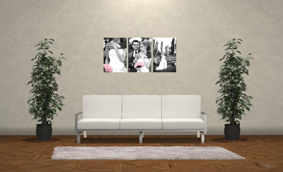 Wedding Photo Print Ideas Wall Display Mockup by San Diego Photographer Andrew Abouna 3bw
