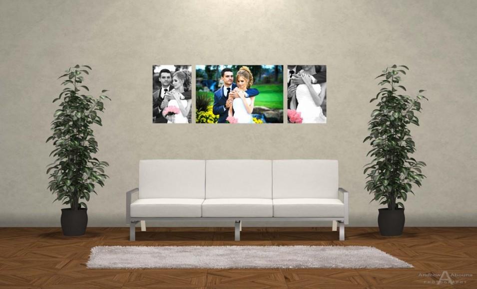 Wediding Photo Print Ideas Wall Display Mockup by San Diego Photographer Andrew Abouna 1bw2