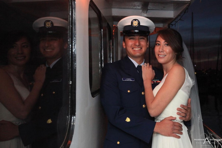 Loren and Cody Liberty Station San Diego Bay Yacht Wedding Photography by Andrew Abouna