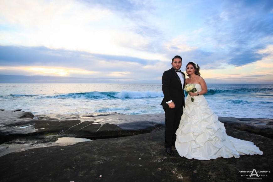 Lovely La Valencia And Windansea Beach Wedding Photos